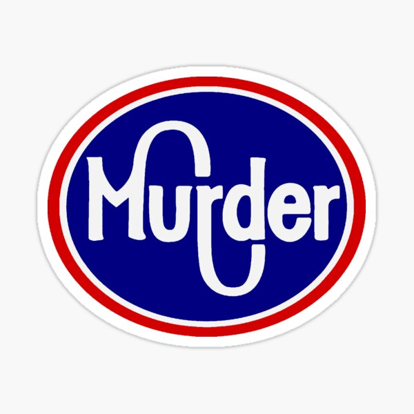 Murder Grocery Sticker