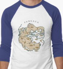 map of the supercontinent Pangaea Men's Baseball ¾ T-Shirt