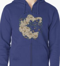 map of the supercontinent Pangaea Zipped Hoodie