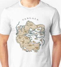 map of the supercontinent Pangaea T-Shirt