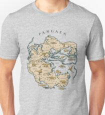 map of the supercontinent Pangaea Unisex T-Shirt