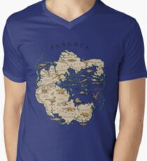 map of the supercontinent Pangaea Men's V-Neck T-Shirt