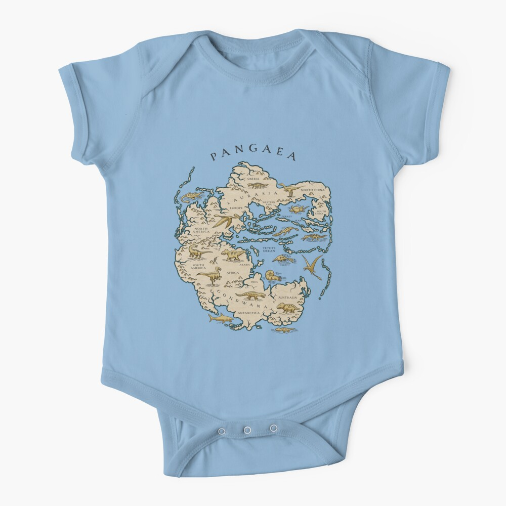 map of the supercontinent Pangaea Baby One-Piece