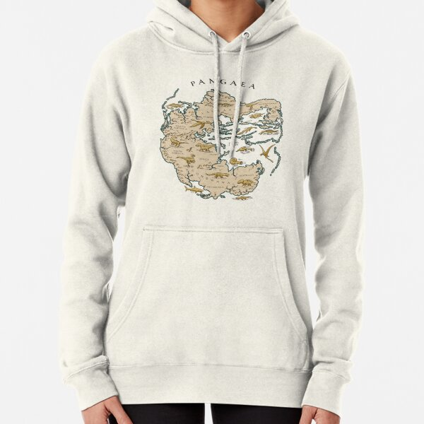 map of the supercontinent Pangaea Pullover Hoodie