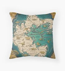 map of the supercontinent Pangaea Throw Pillow
