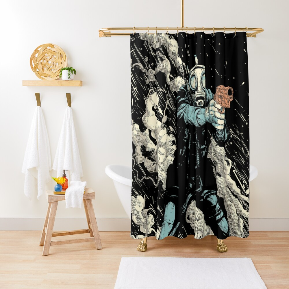 Attack! Shower Curtain