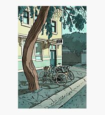 bicycles at the Hotel Photographic Print