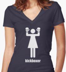 I kick ass Women's Fitted V-Neck T-Shirt
