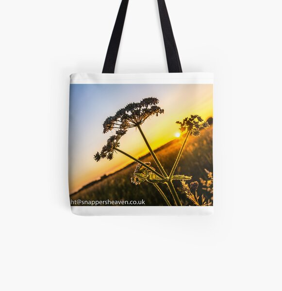 Cowslip at sunset from Meadowflower Collection  All Over Print Tote Bag