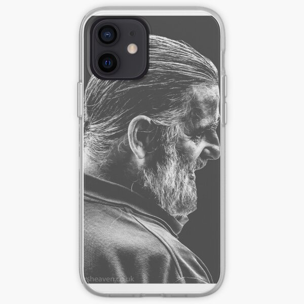 Street Photography - longhaird bearded man  iPhone Soft Case