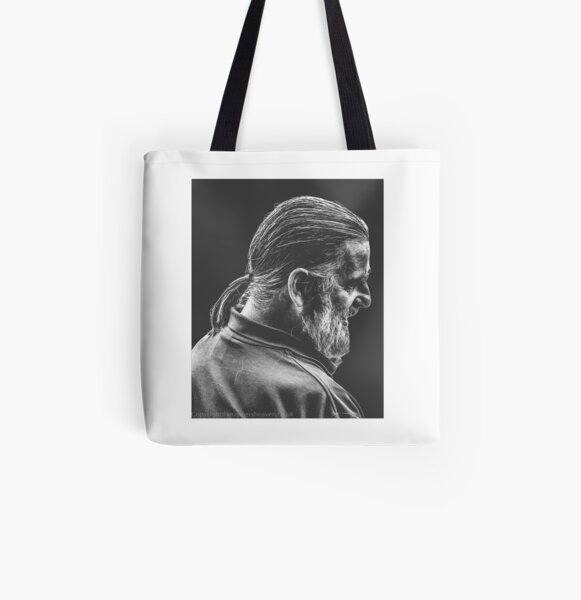 Street Photography - longhaird bearded man  All Over Print Tote Bag