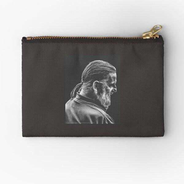 Street Photography - longhaird bearded man  Zipper Pouch