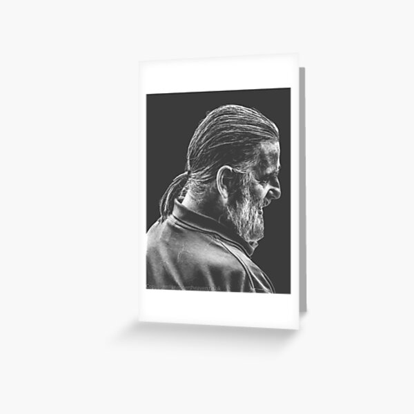 Street Photography - longhaird bearded man  Greeting Card