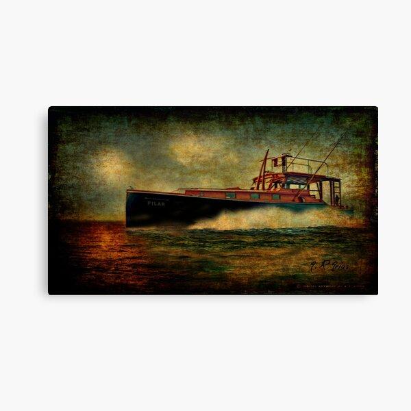 Vintage Ernest Hemingway Pilar Boat in Key West Canvas Print