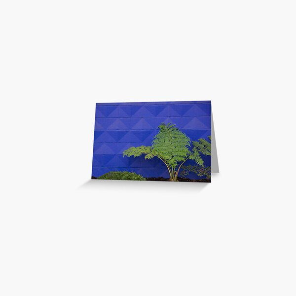 Purple Traffic Stop Greeting Card
