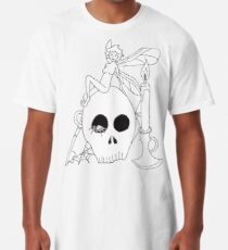 Fairy Sitting on a Skull Long T-Shirt