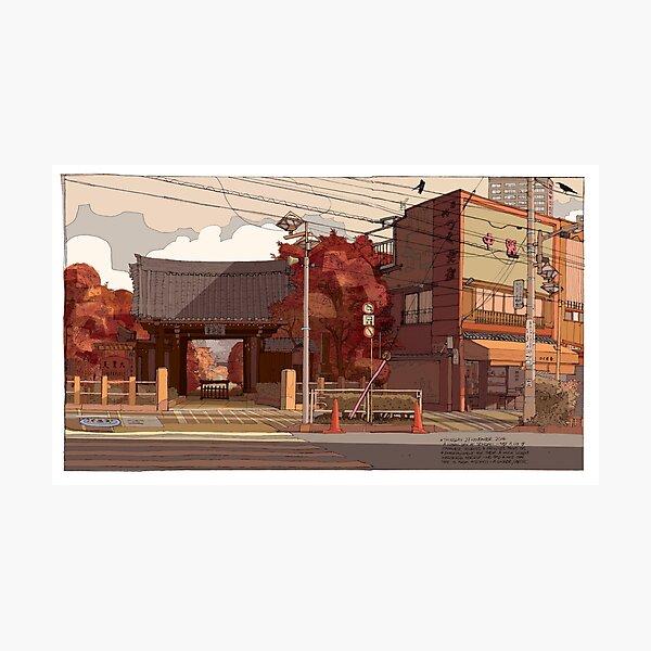 Autumn Temple Photographic Print