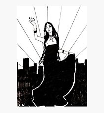 Goth in the City Photographic Print
