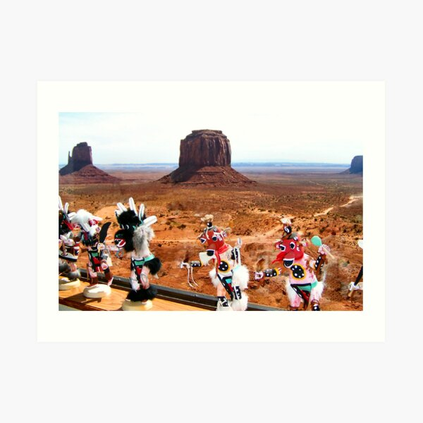 Kachinas Dance by the Mittens Art Print
