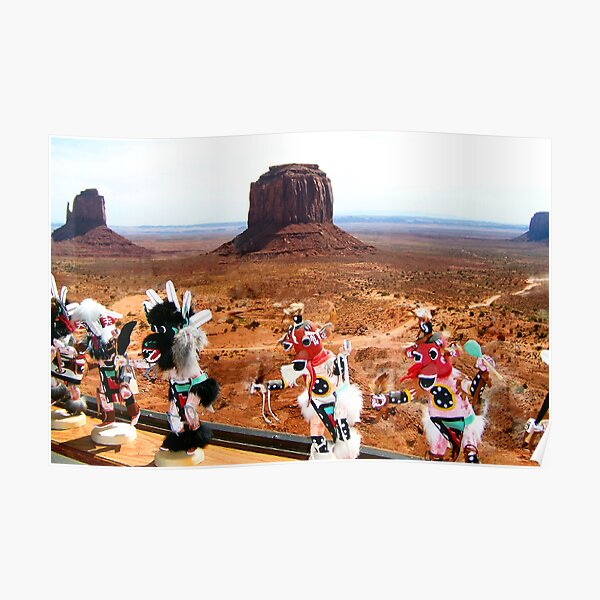 Kachinas Dance by the Mittens Poster