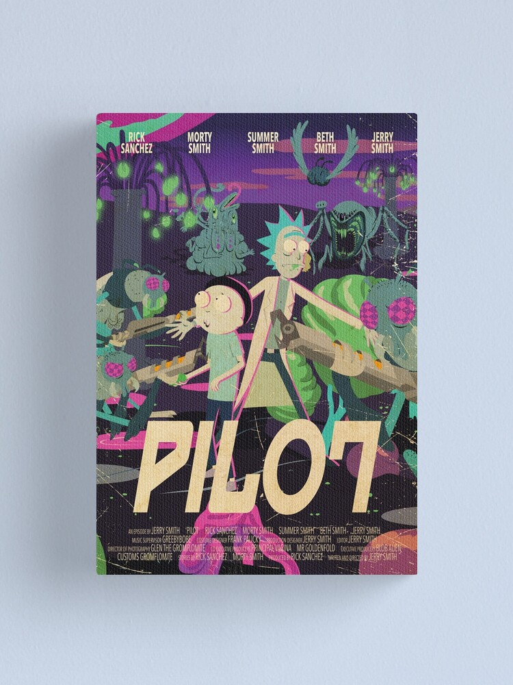 Alternate view of Rick and Morty - Pilot Poster Canvas Print