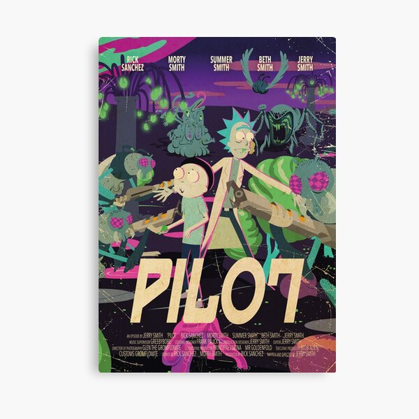 Rick and Morty - Pilot Poster Canvas Print