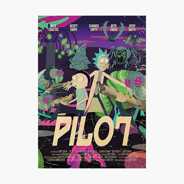 Rick and Morty - Pilot Poster Photographic Print