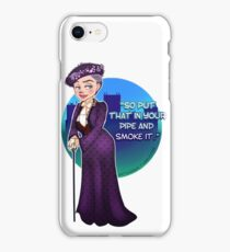 Violet Crawley, the Dowager Countess of Grantham iPhone Case/Skin