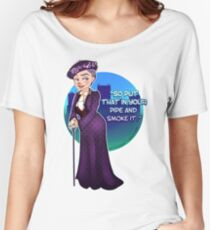 Violet Crawley, the Dowager Countess of Grantham Women's Relaxed Fit T-Shirt