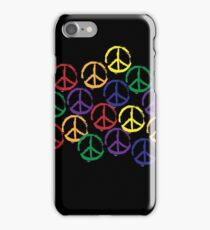 Peace Sign in all colors iPhone Case/Skin