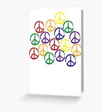 Peace Sign in all colors Greeting Card