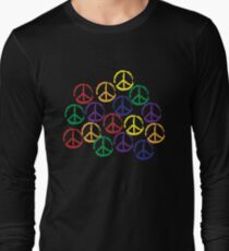 Peace Sign in all colors Long Sleeve T-Shirt