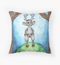 Deer Doll Throw Pillow