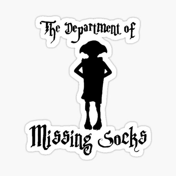 Department of missing socks Sticker