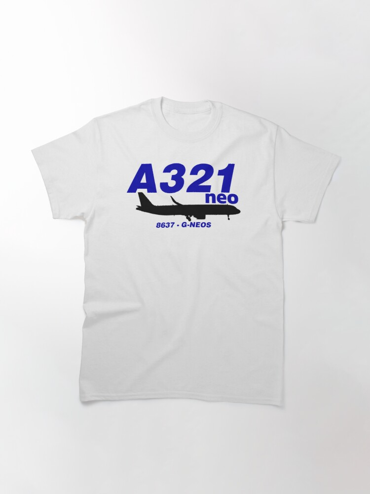 Alternate view of A321neo 8637 G-NEOS (Black Print) Classic T-Shirt
