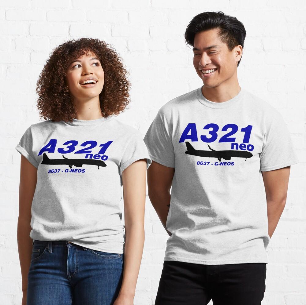 A321neo 8637 G-NEOS (Black Print) Classic T-Shirt