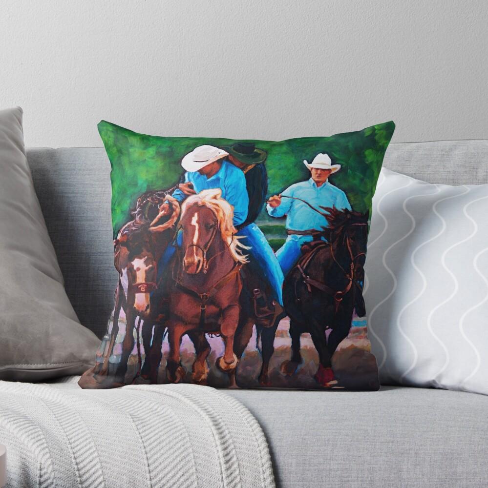 Rodeo Cowboys Throw Pillow
