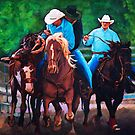 Rodeo Cowboys by SharonButler