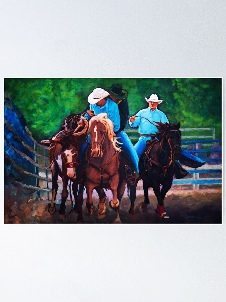 Alternate view of Rodeo Cowboys Poster