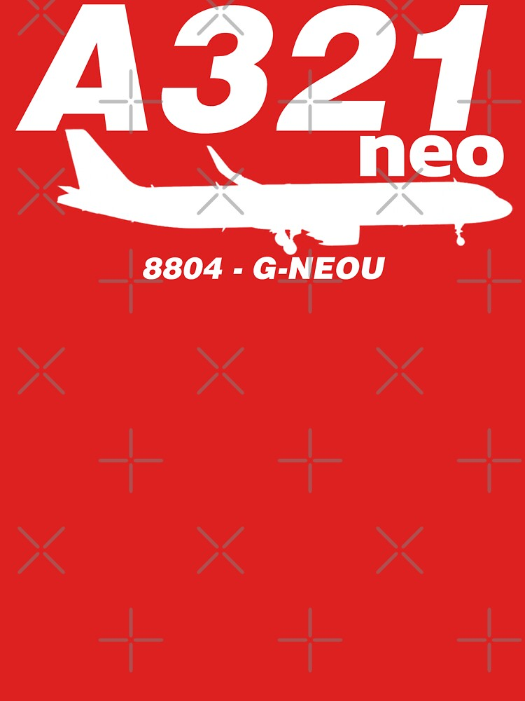 A321neo 8804 G-NEOU (White Print) by AvGeekCentral