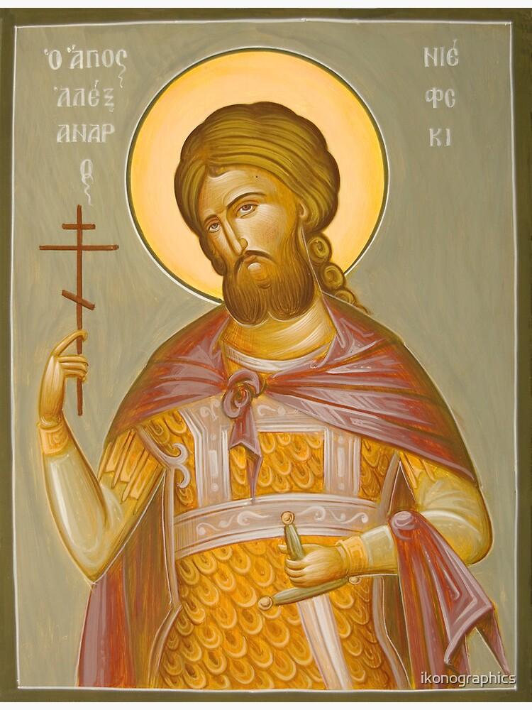 St Alexander Nevsky by ikonographics