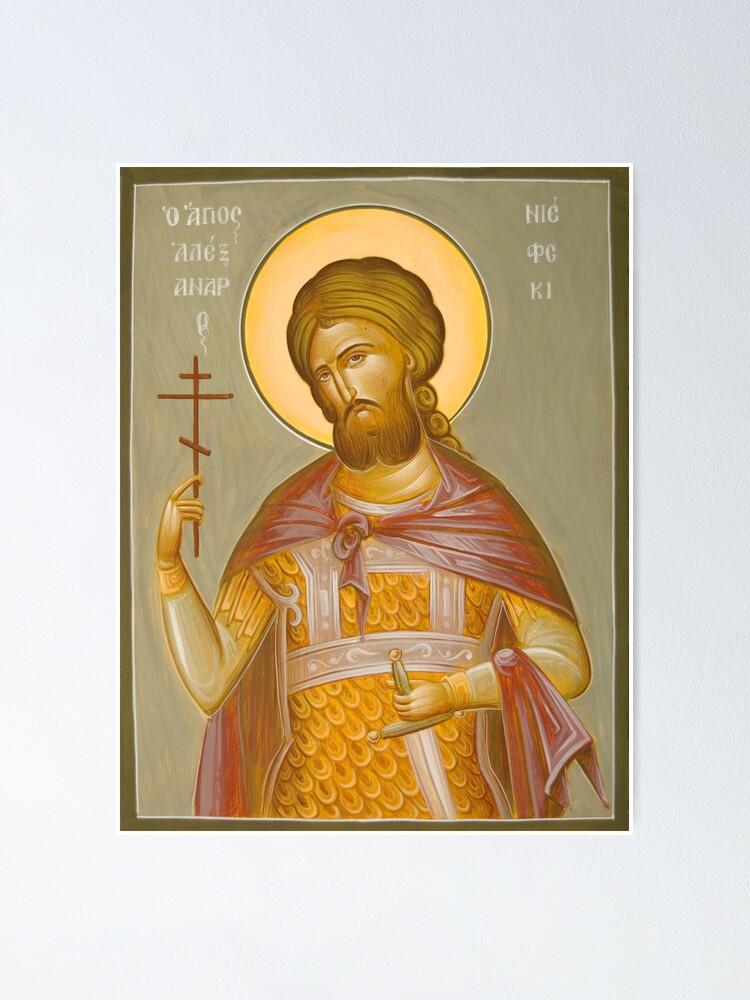 Alternate view of St Alexander Nevsky Poster