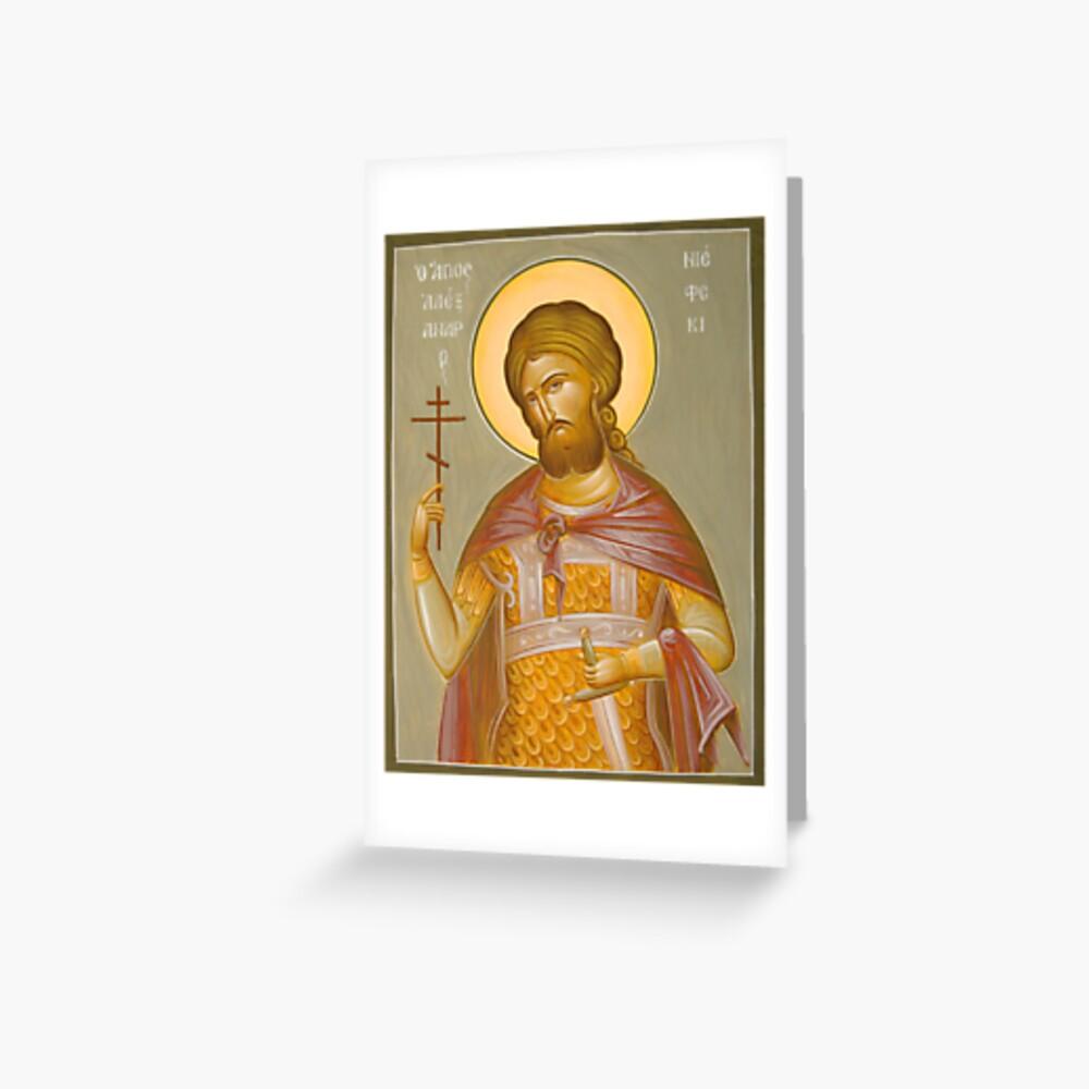 St Alexander Nevsky Greeting Card