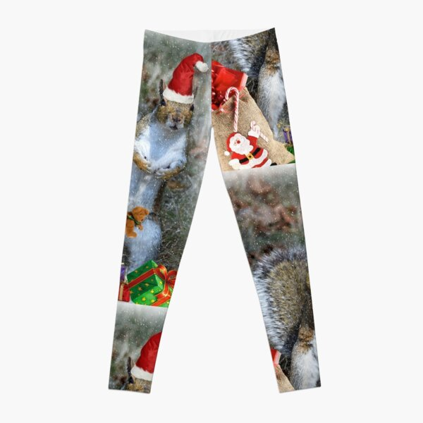Christmas Squirrel Leggings