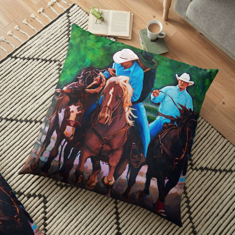 Rodeo Cowboys Floor Pillow