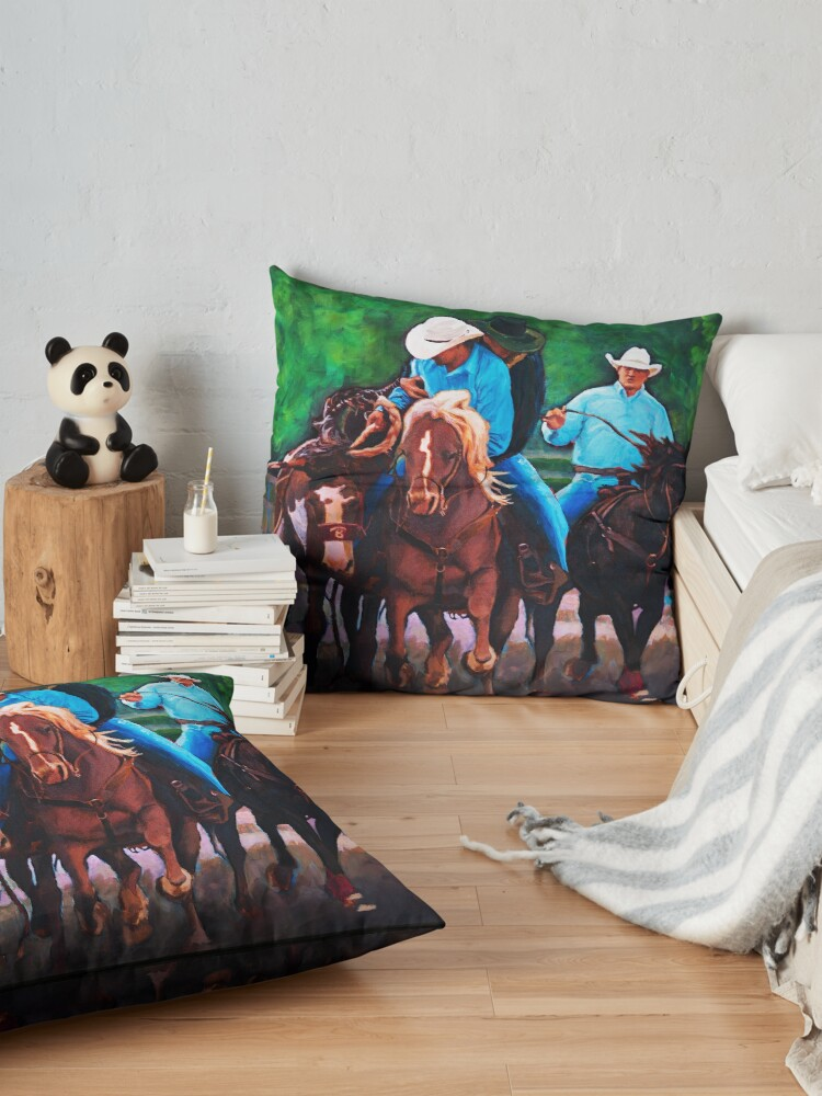 Alternate view of Rodeo Cowboys Floor Pillow