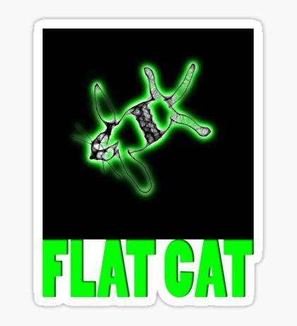 flat cat t Sticker