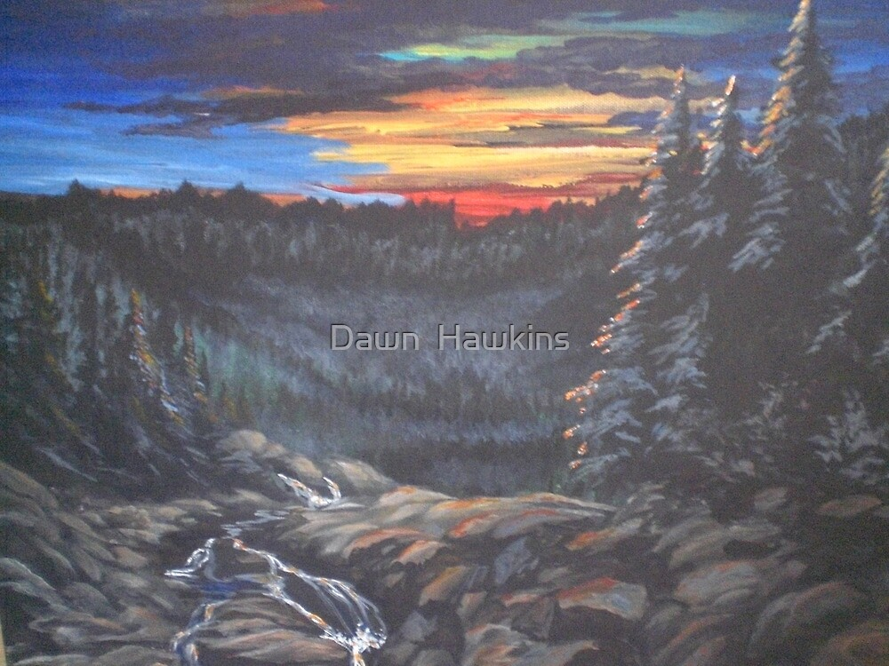 Sunset in the Smoky Mountains   by Dawn  Hawkins