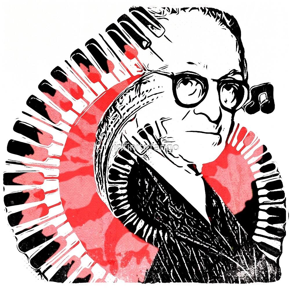 Pop Art Pugliese with Piano Keys and Carnation by infinitetango