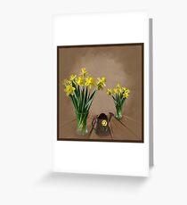 Daffodils. Greeting Card